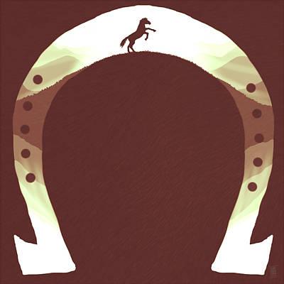 Rear Drawing - Horse Shoe by Daniel Hapi