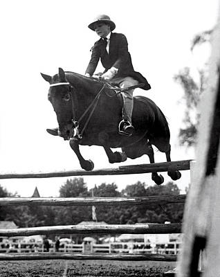 Horse Show Jump Print by Underwood Archives