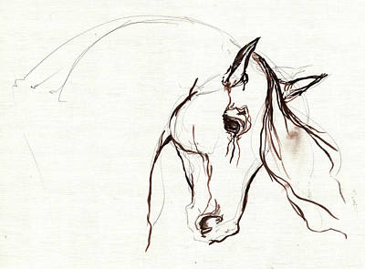 Horse Sketch Print by Angel  Tarantella