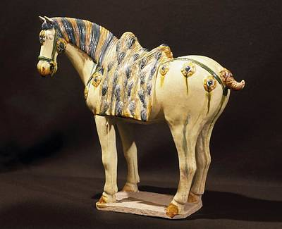 Ceramics Photograph - Horse Small Statue 618-907. Chinese by Everett