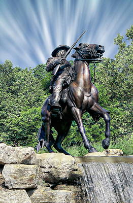 Horse Soldier Monument Print by Anthony Dezenzio