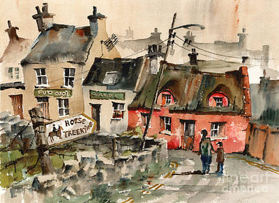 Tour Ireland Painting - Horse Treeking In Doolin  Clare by Val Byrne