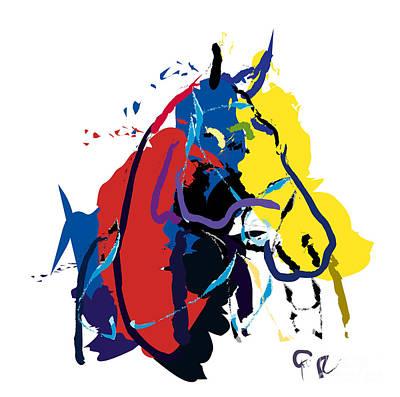 Digital Painting - Horse- Zam by Go Van Kampen