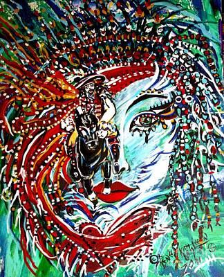 Yemaya Painting - Horseman Of Yemaya by Kath MoonArts