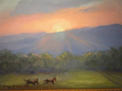 Horses Running Free Original by Patricia Kimsey Bollinger