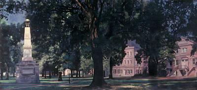 Horseshoe At University Of South Carolina Mural Print by Blue Sky