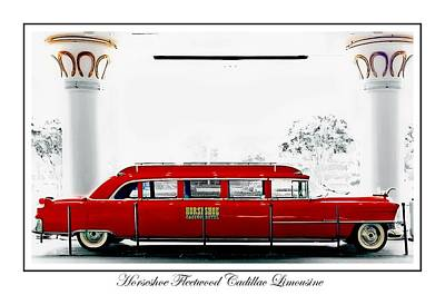 Horseshoe Fleetwood Cadillac Limousine Print by Barbara Chichester