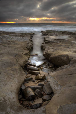 Beach Sunsets Photograph - Horseshoes Beach Tidepools by Peter Tellone