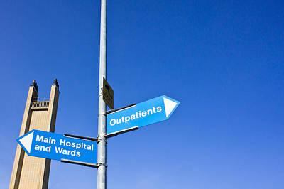 Hospital Signs Print by Tom Gowanlock
