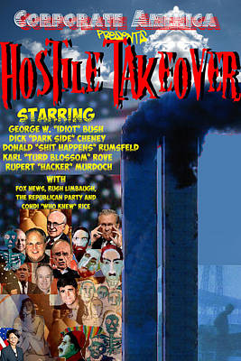 Hostile Takeover Print by James Gallagher