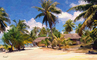Mombasa Painting - Hot Afternoon At The Beach by Anthony Mwangi