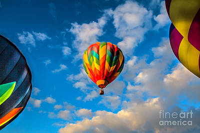 Colorado River Crossing Photograph - Hot Air Balloon Framed by Robert Bales