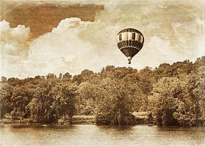 Balloons Photograph - Hot Air Balloon In Sepia by Brooke Ryan