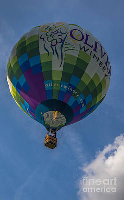 Southern Indiana Photograph - Hot Air Balloon Ow by David Haskett