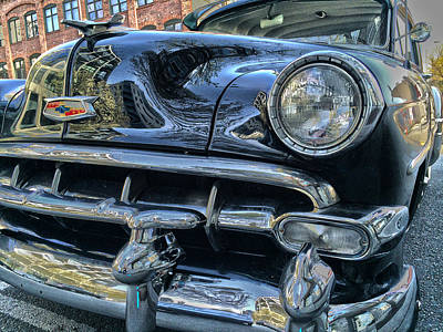 Hot Black Chevy Original by Gary Horsfall