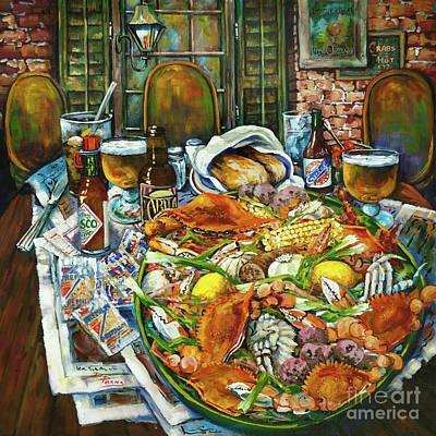 Hot Boiled Crabs Print by Dianne Parks