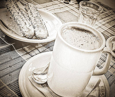 Glass Wall Digital Art - Hot Chocolate In Cold Ushuaia by Julie Palencia