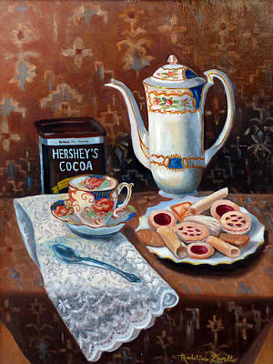 Hot Chocolate Pot Print by Madeline  Lovallo
