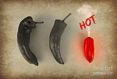 Vegatables Photograph - Hot by Clare Bevan