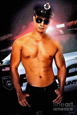 Police Cruiser Painting - Hot Cop by Brian Joseph E