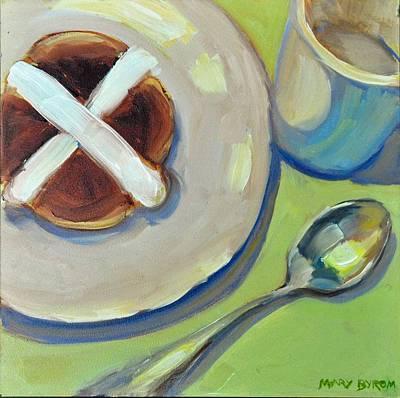 Painting - Hot Cross Bun by Mary Byrom