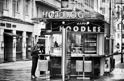 Hot Dog Stands Photograph - Hot Dogs Or Noodles by John Rizzuto