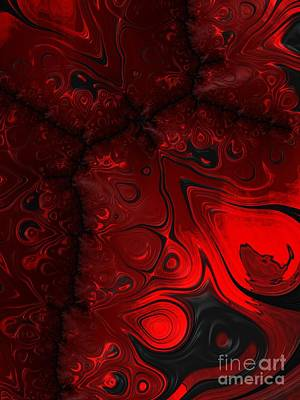 Backdrop Digital Art - Hot Lava  by Heidi Smith