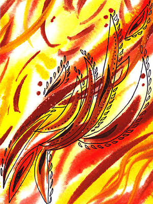 Red Painting - Hot Lines Twist Abstract by Irina Sztukowski