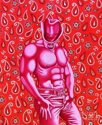 Hot Pink Cowboy Original by Joseph Sonday