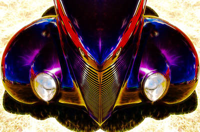 Hot Rod Eyes Print by motography aka Phil Clark