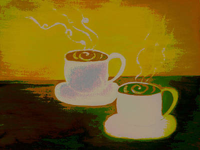 Raspberry Mixed Media - Hot Tea For Two by Erica  Darknell