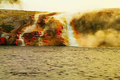 Hot Water Pouring Print by Jeff Swan