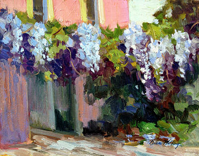 Temple Painting - Hotel Baudy Wisteria by Diane McClary