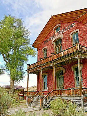 Bannack Ghost Town Photograph - Hotel Meade Bannack Montana Ghost Town by Jennie Marie Schell