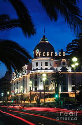 Evening Scenes Photograph - Hotel Negresco by Inge Johnsson
