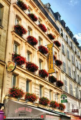 Hotel On Rue Cler Print by Mel Steinhauer
