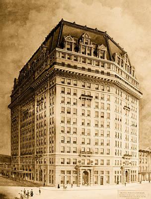 Conceptual Drawing - Hotel Pontchartrain Detroit 1910 by Mountain Dreams