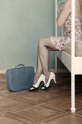 Fishnet Photograph - Hotel Room by Joana Kruse