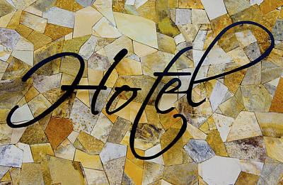 Hotel Sign Print by Aged Pixel