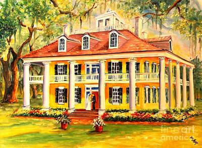 Impressionistic Landscape Painting - Houmas House Wedding by Diane Millsap