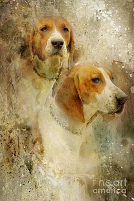Hounds Print by Lyndsey Warren