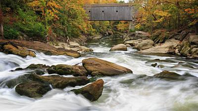 Housatonic River Bulls Bridge Print by Bill Wakeley