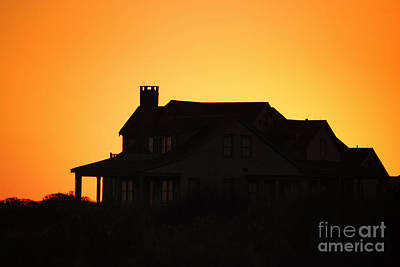 America Photograph - House And Sunset by Sabine Jacobs