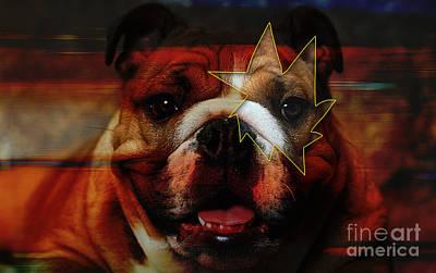 English Mixed Media - House Broken English Bulldog  by Marvin Blaine