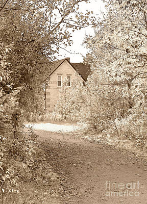 Country Dirt Roads Digital Art - House In Autumn by Blink Images