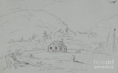 Desert Drawing - House In Mount Desert by  Thomas Cole