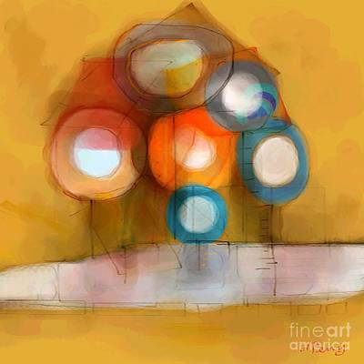Digital Art - House In The Trees by D Perry