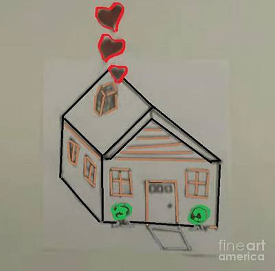 Doubting Mixed Media - House Love by Archangelus Gallery