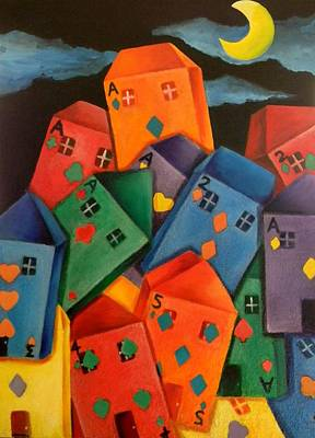 Painting - House Of Cards by Lisa Bentley