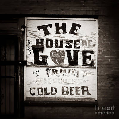 Of Liquor Photograph - House Of Love Memphis Tennessee by T Lowry Wilson